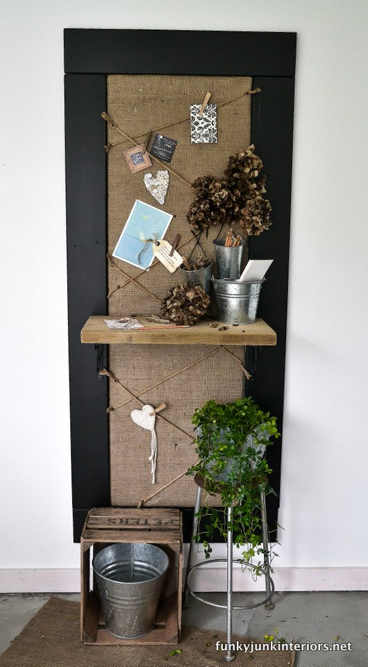 Bulletin board ~ by Funky Junk Interiors | Vin'yet Etc.