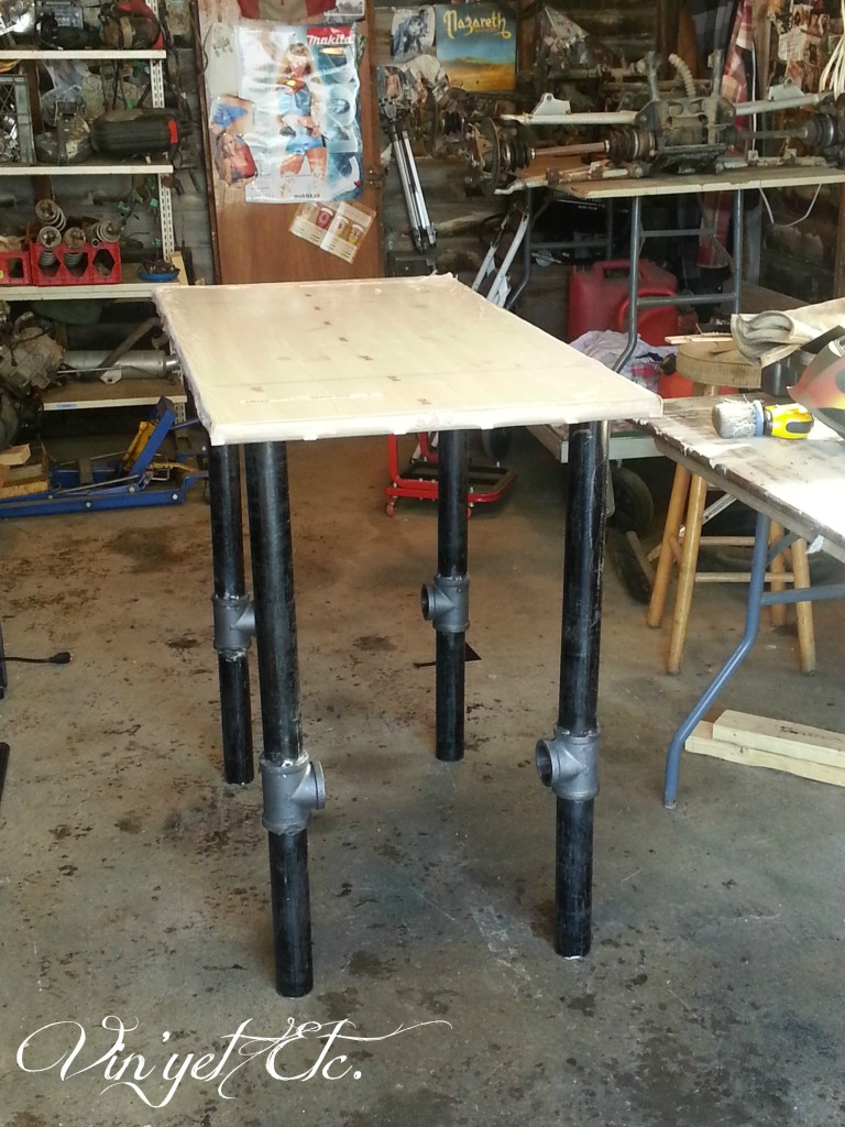 Legs and top mock-up