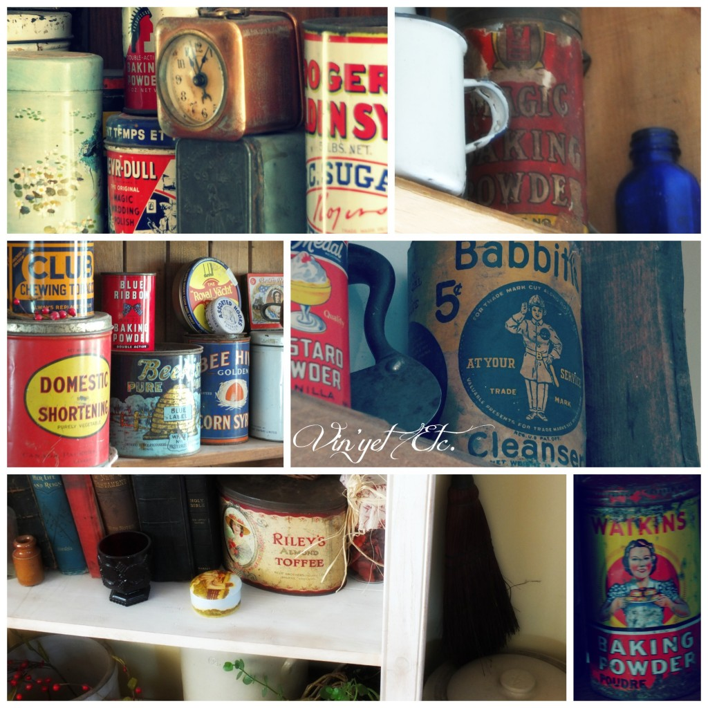 Tin Collection Collage | Vin'yet Etc.