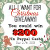 All I want for Christmas | $200 Paypal Giveaway | Vin'yet Etc.
