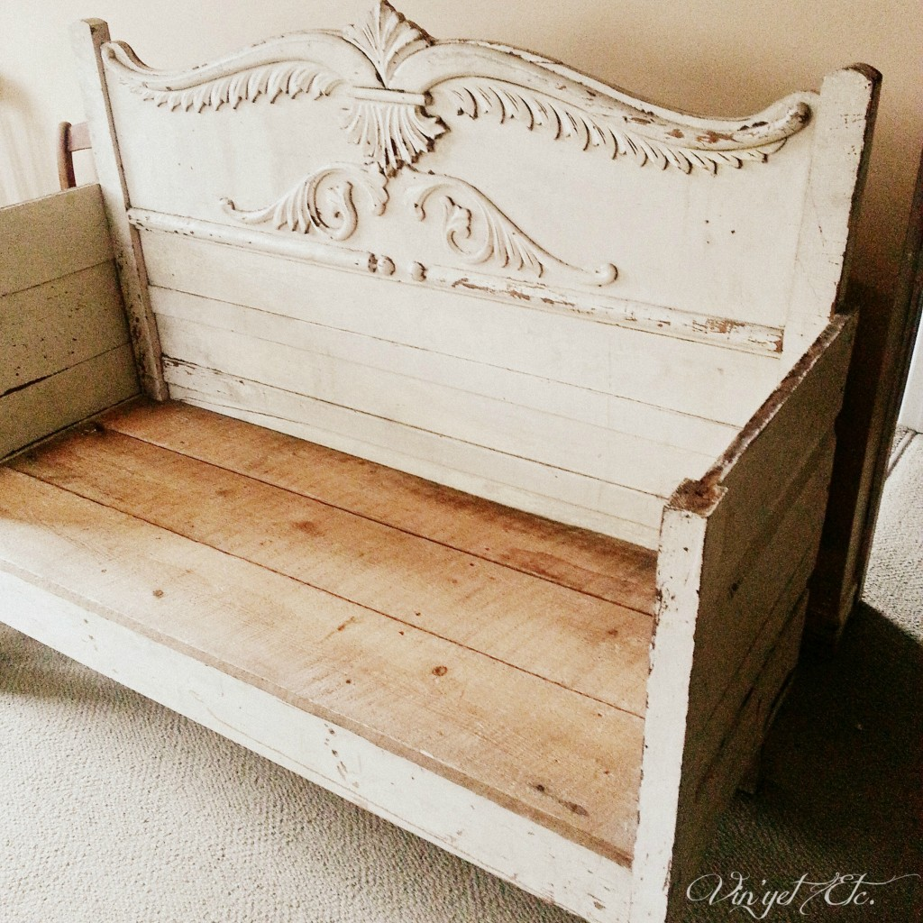 Antique Headboard Bench: Antique Headboard Bench