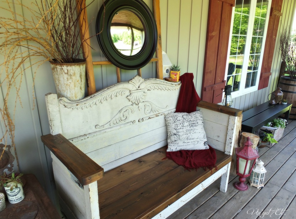 Antique headboard bench | Vin'yet Etc.