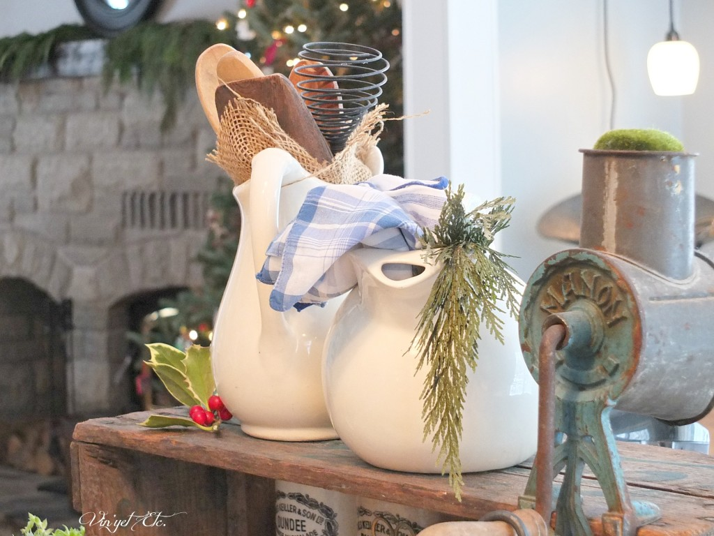 Vintage_Pitchers_Christmas_Vignette | Vin'yet Etc.