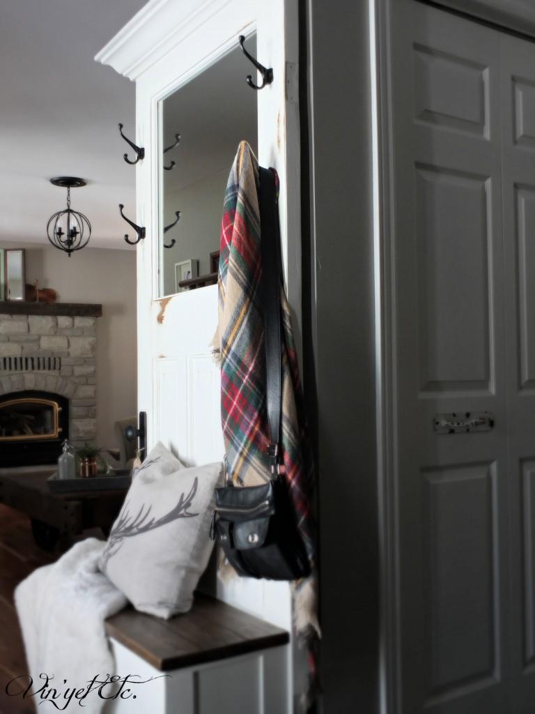 Vintage doors turned hall tree | VIn'yet Etc.