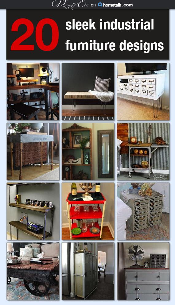 20 sleek Industrial Furniture Designs | Vin'yet Etc.