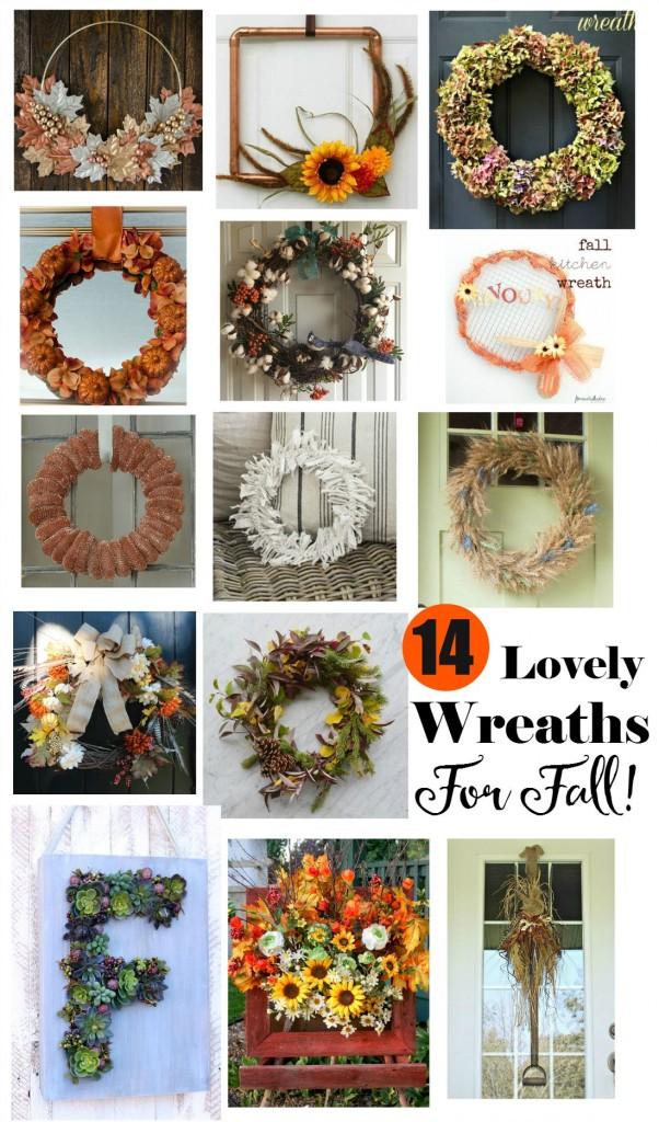 14 Lovely Wreaths For Fall | Vin'yet Etc.