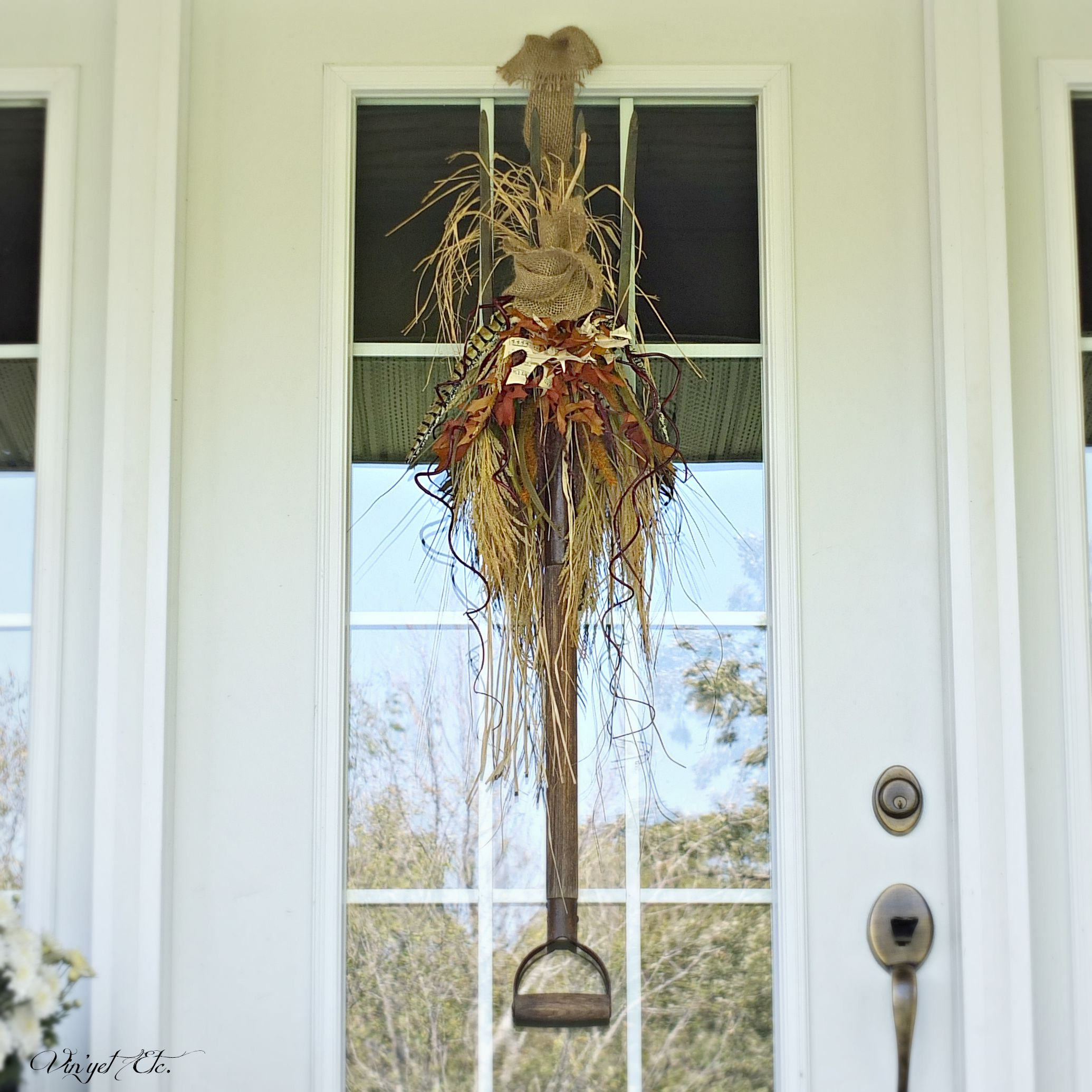 Fall Door Swags: Nature Inspired Fall Wreath