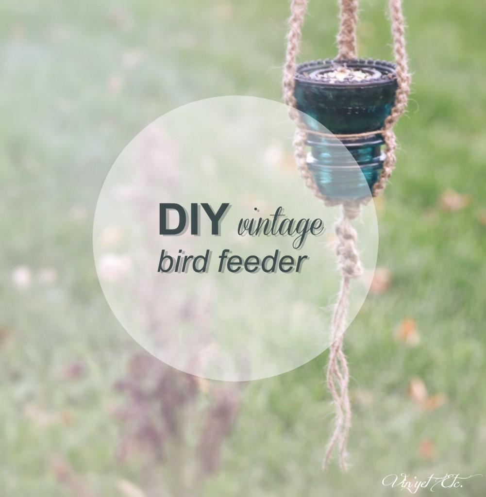 DIY vintage bird feeder | Vin'yet Etc.