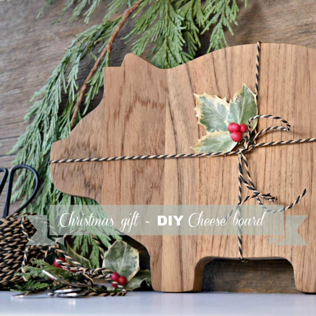 Christmas gift - DIY Cheese board Message