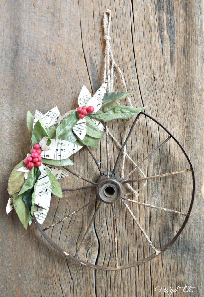 DIY Rustic Christmas Wreath - VinyetETC.