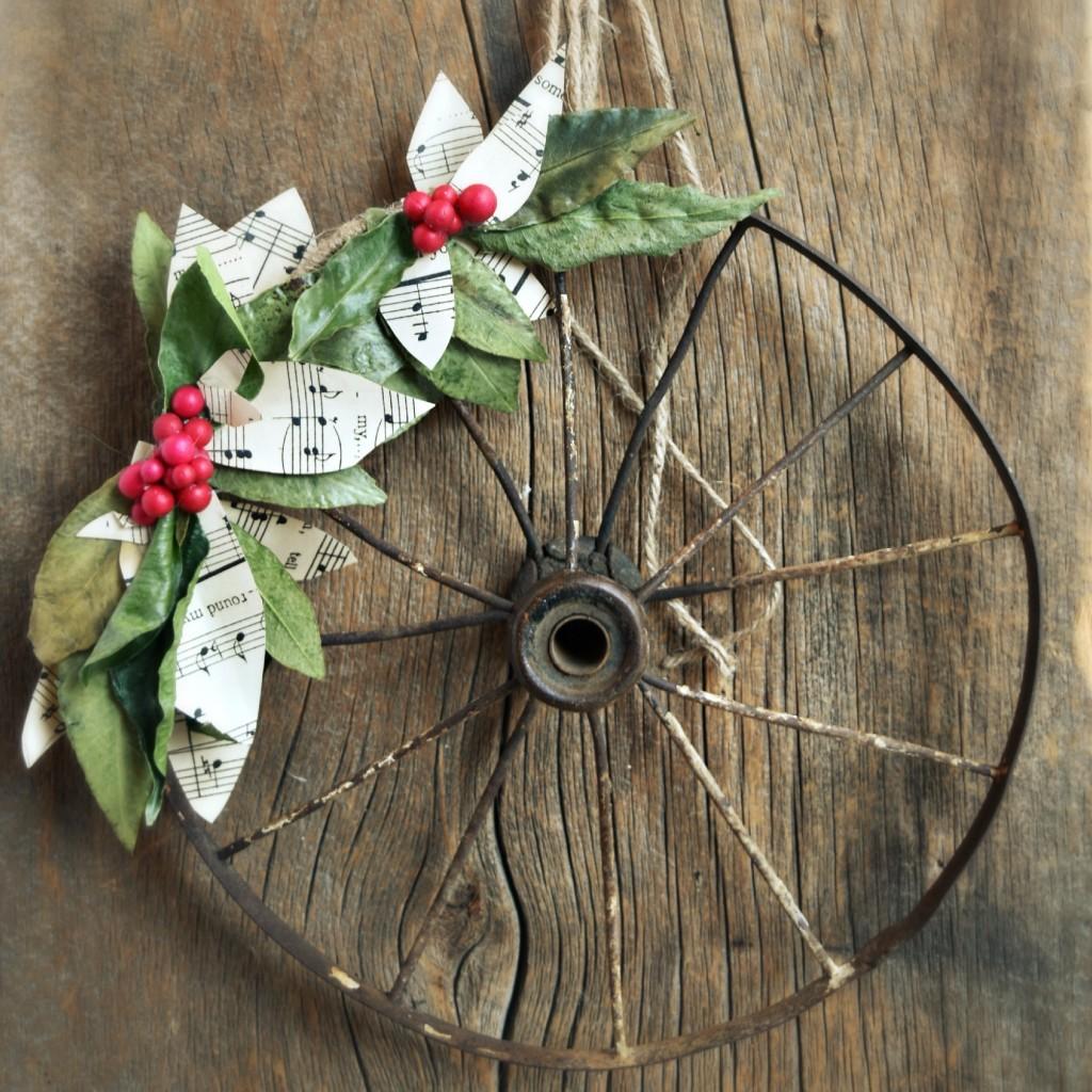 Diy rustic christmas wreath vin yet etc