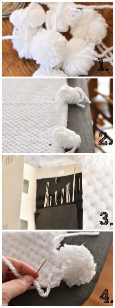 DIY-Chenille-blanket-pompoms | Vin'yet Etc.