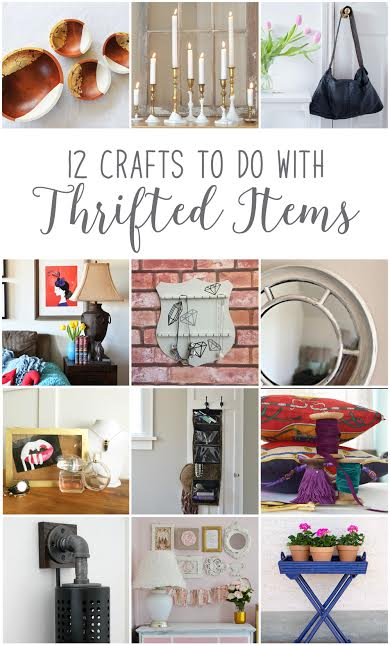 12 Crafts to do with Thrifted items | Vin'yet Etc.