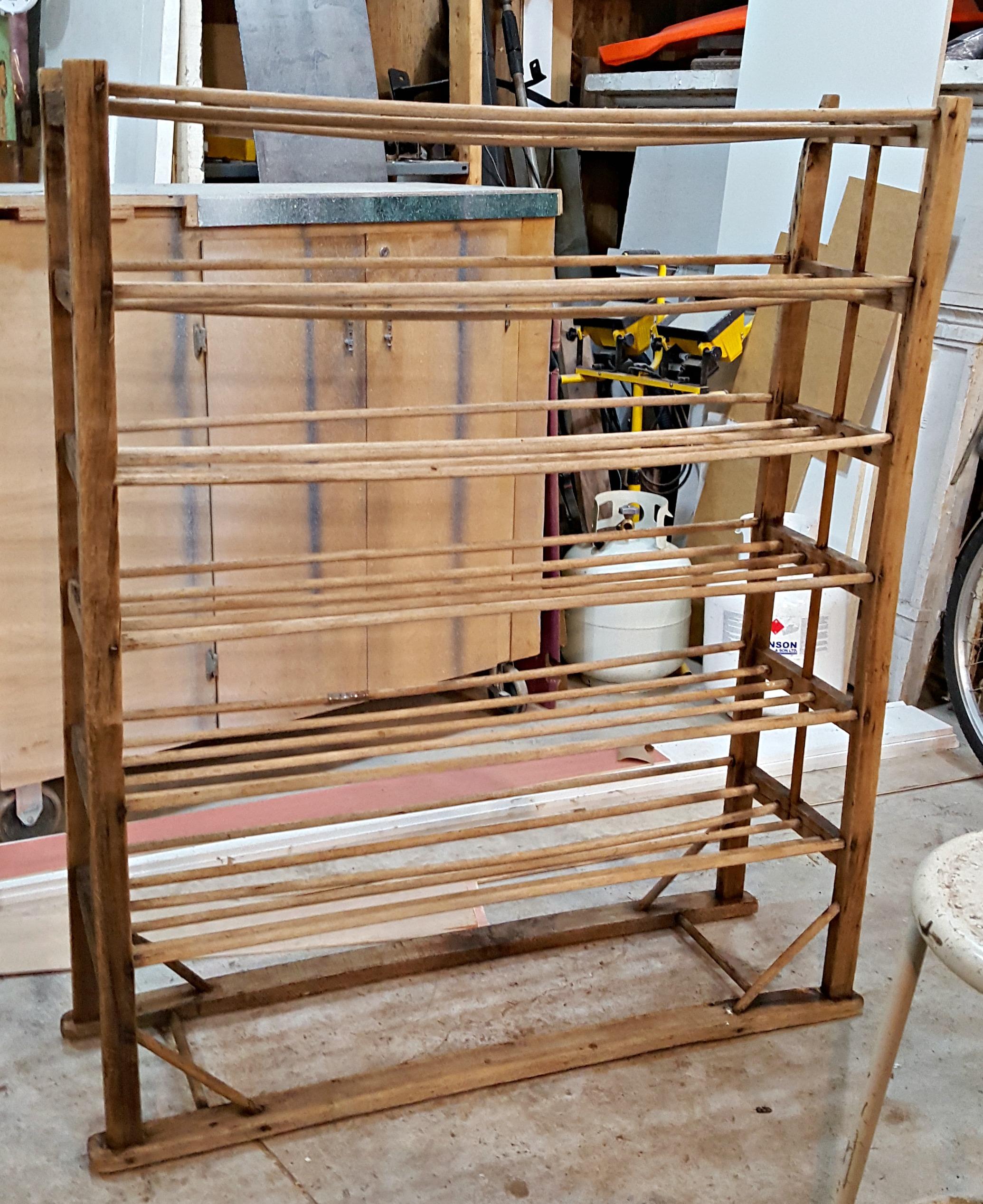 Repurposed antique bakers rack - Vin\'yet Etc.Vin\'yet Etc.