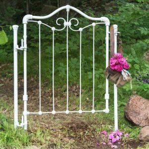Repurposed antique crib – DIY secret garden gate