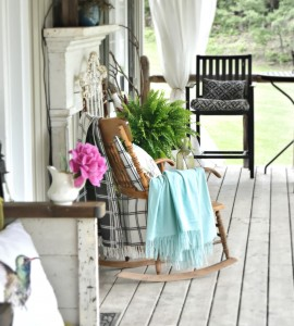 Farmhouse summer porch tour