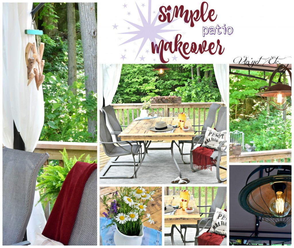 Simple Patio Collage | Vin'yet Etc.