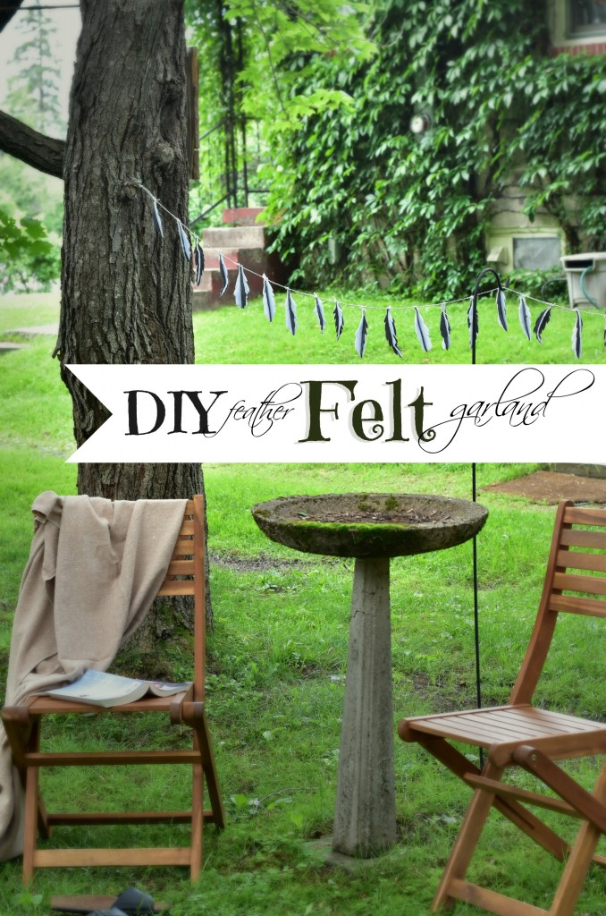 DIY-Feather-Felt-Garland | Vin'yet Etc