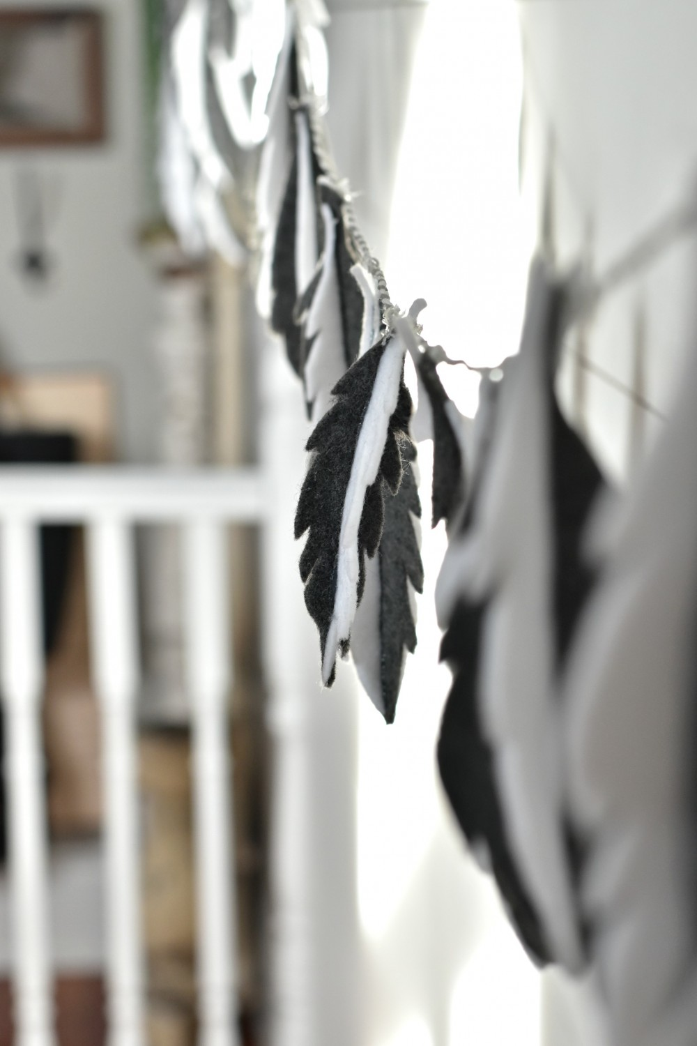 Felt-Feather-Garland-In-Studio | Vin'yet Etc.