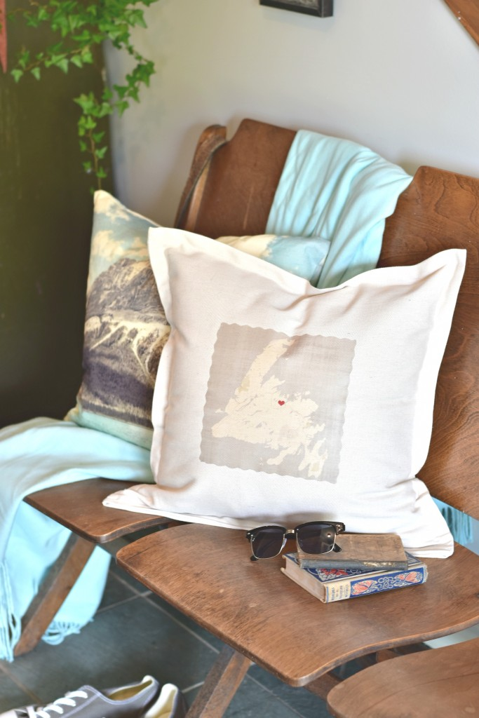 DIY personalized throw pillow - Newfoundland Map | VinYetEtc.