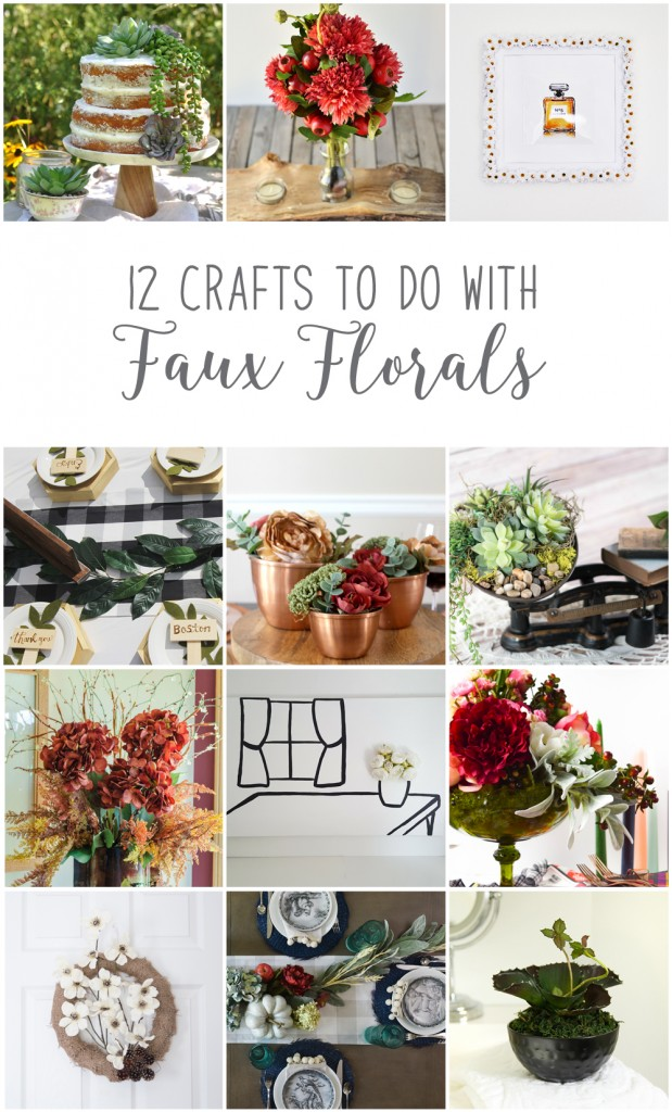 12monthsofdiy-september-faux-floral-diy-craft-ideas | VinYetETC