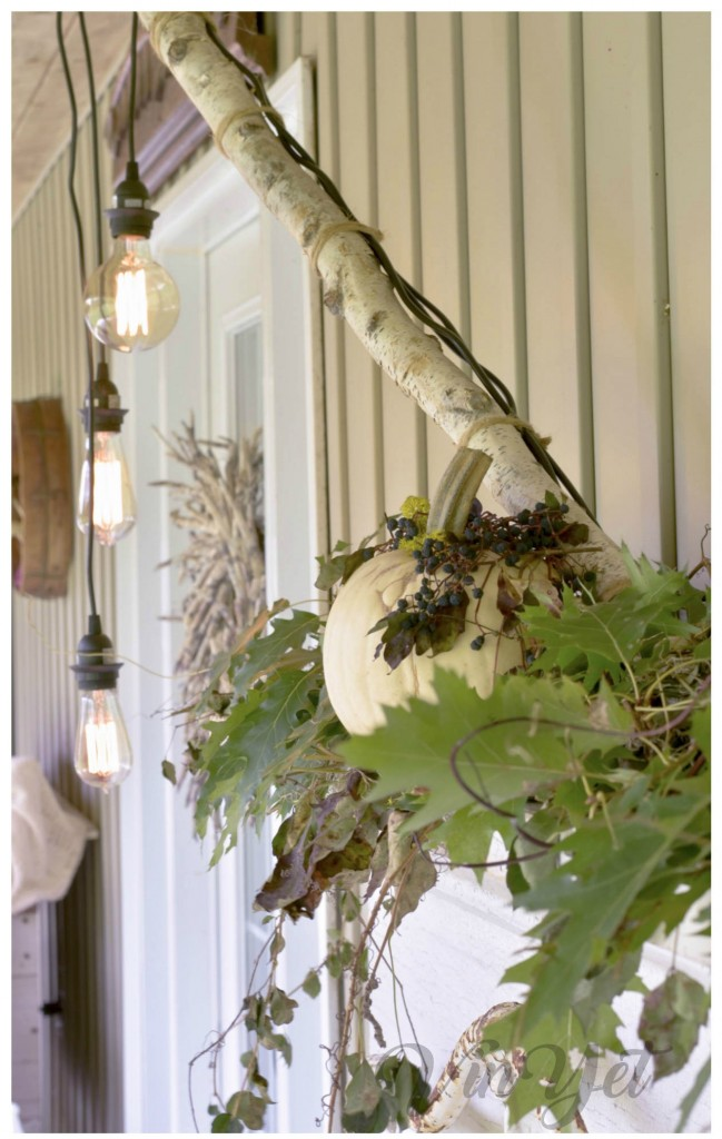Canadian Fall Home tour - mantel - lights - VinYet ETC