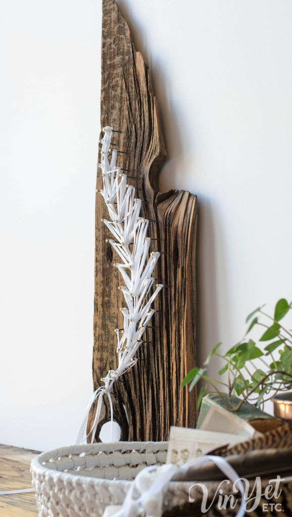 DIY string art with ribbon | VinYet Etc.