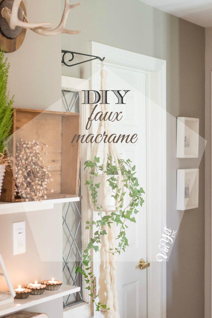 DIY faux macrame hanger - VinYet Etc