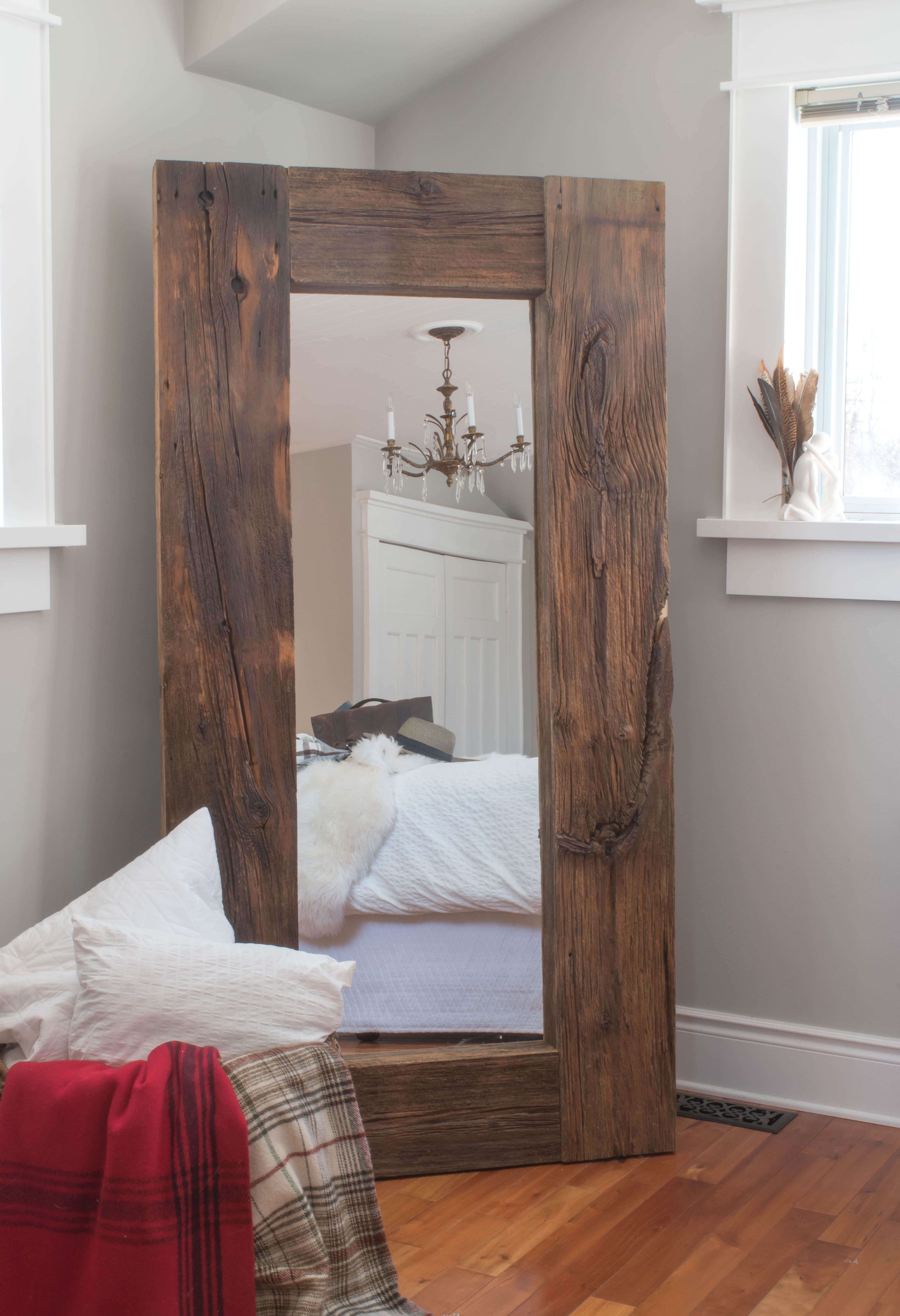 Diy Barn Board Mirror Ikea Hack Vin Yet Etc