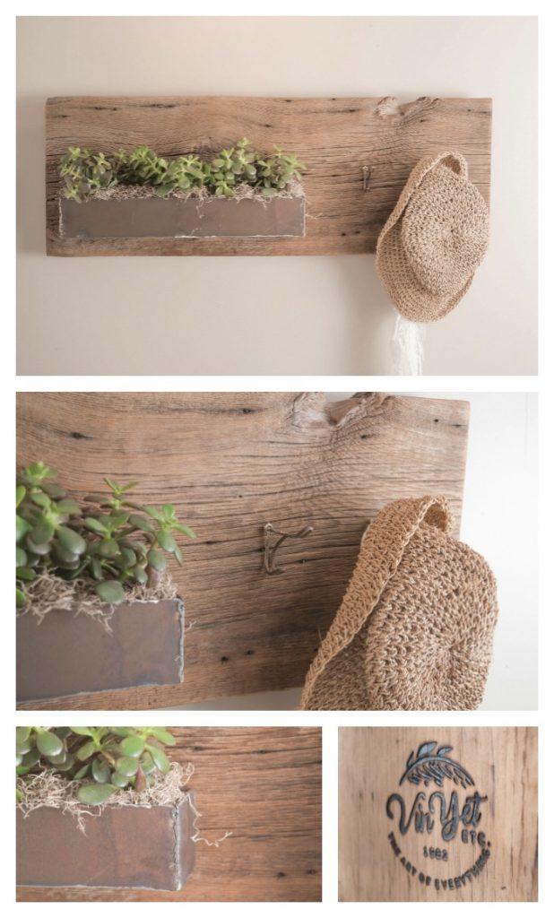 Large Barnboard Planter Collage | VinYet Etc