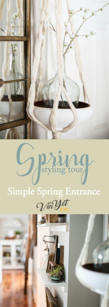 Simple Spring Entrance Vinyet Etc.