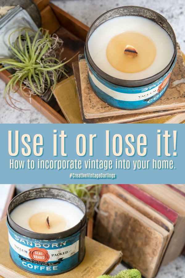Use it or lose it - How to incorporate Vintage into your home-Creative-Vintage-Darlings-blog-hop | Vinyet Etc